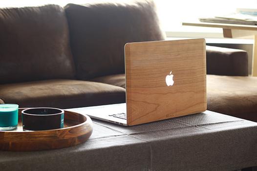coque bois macbook