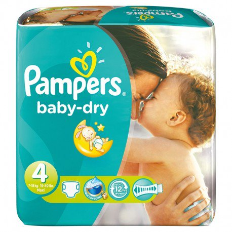 couches pampers baby dry taille 4 pas cher