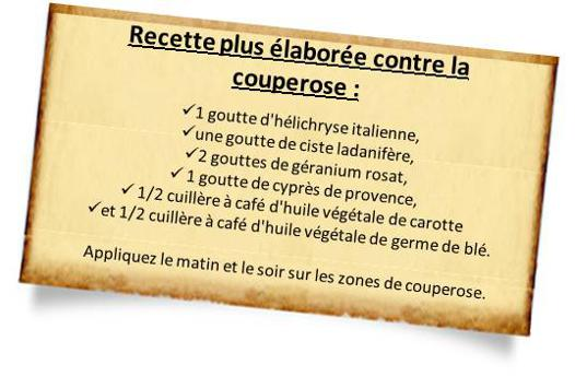 couperose huiles essentielles