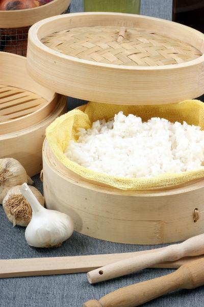 cuisson de riz a la vapeur