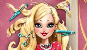 des jeux de fille de coiffure