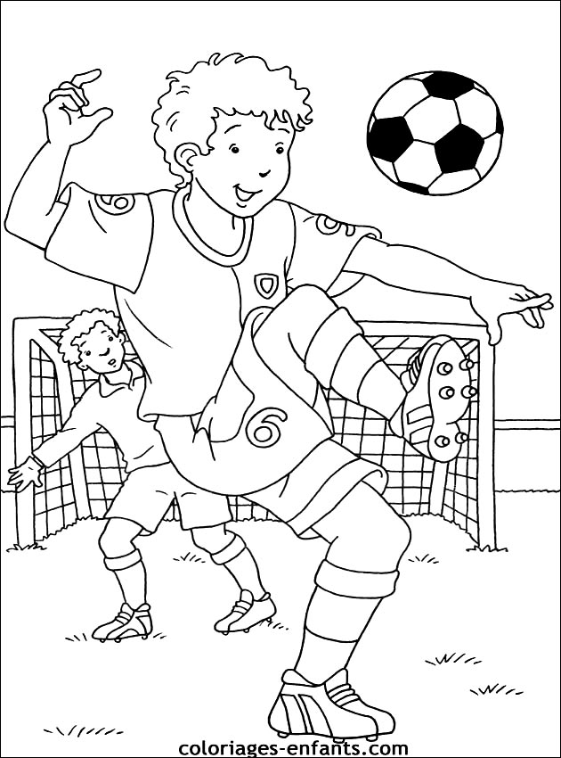 dessin a colorier de foot