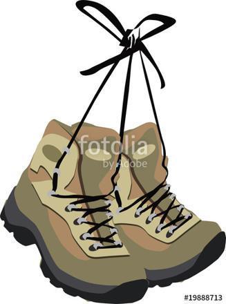 dessin chaussure de randonnée