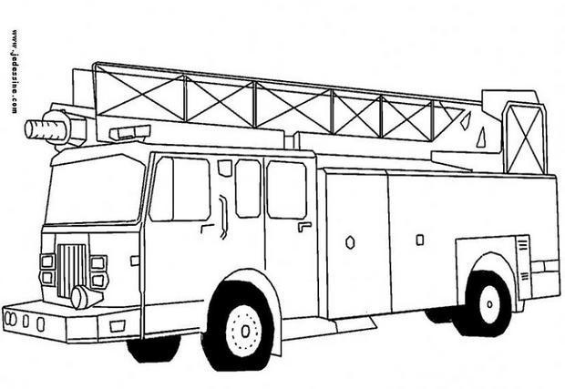 dessin d un camion de pompier