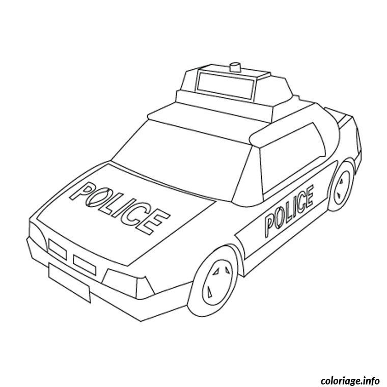 dessin de camion de police