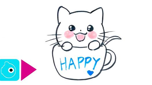 dessin petit chat mignon