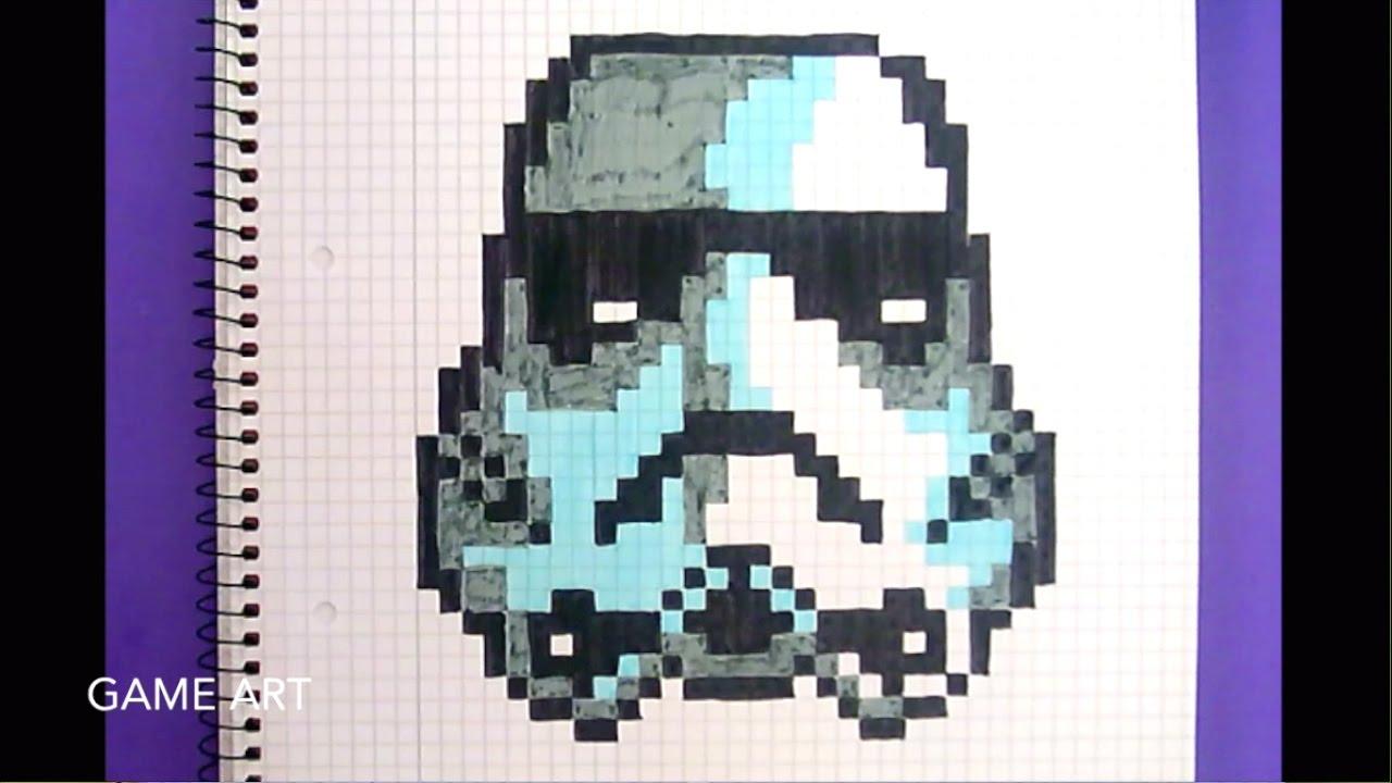 dessin star wars pixel