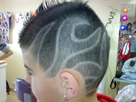 dessin tondeuse cheveux
