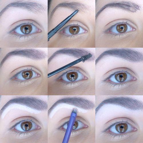 différentes formes de sourcils