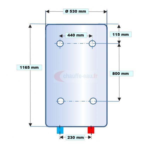 dimension chauffe eau electrique