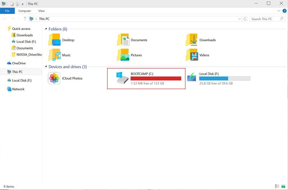 disque dur plein windows 10