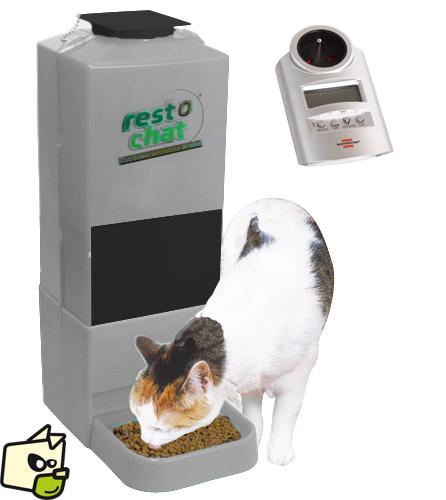 distributeur de croquettes programmable pour chat