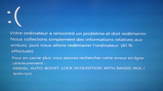 ecran bleu windows 10 asus