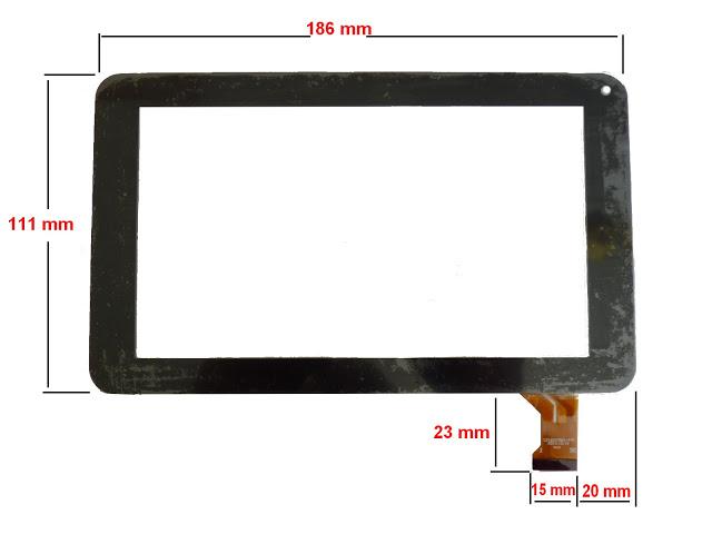 ecran tactile pour tablette polaroid