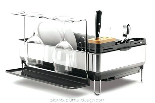 egouttoir vaisselle inox design