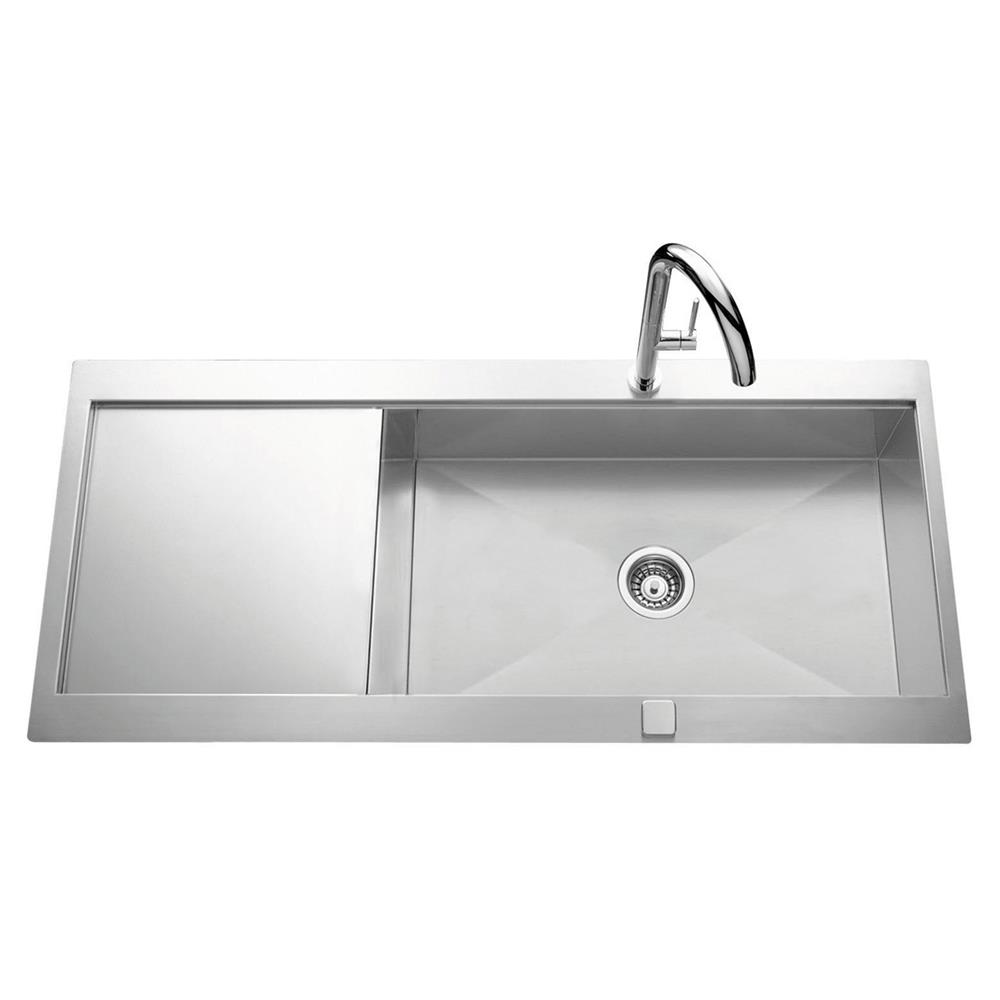 evier inox 1 grand bac