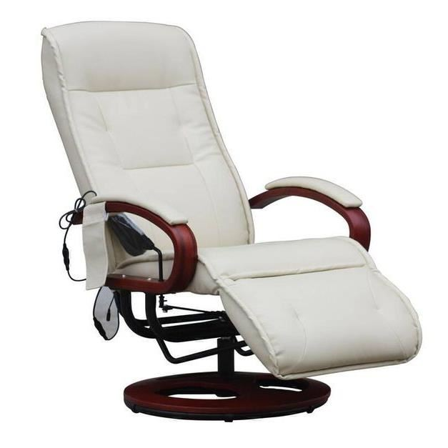 fauteuil relax massant chauffant cuir