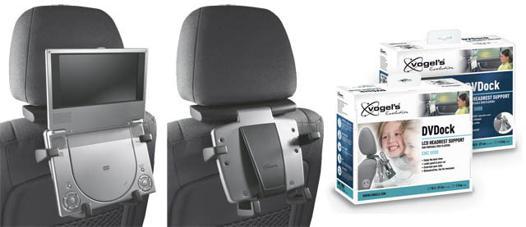 fixation lecteur dvd portable voiture