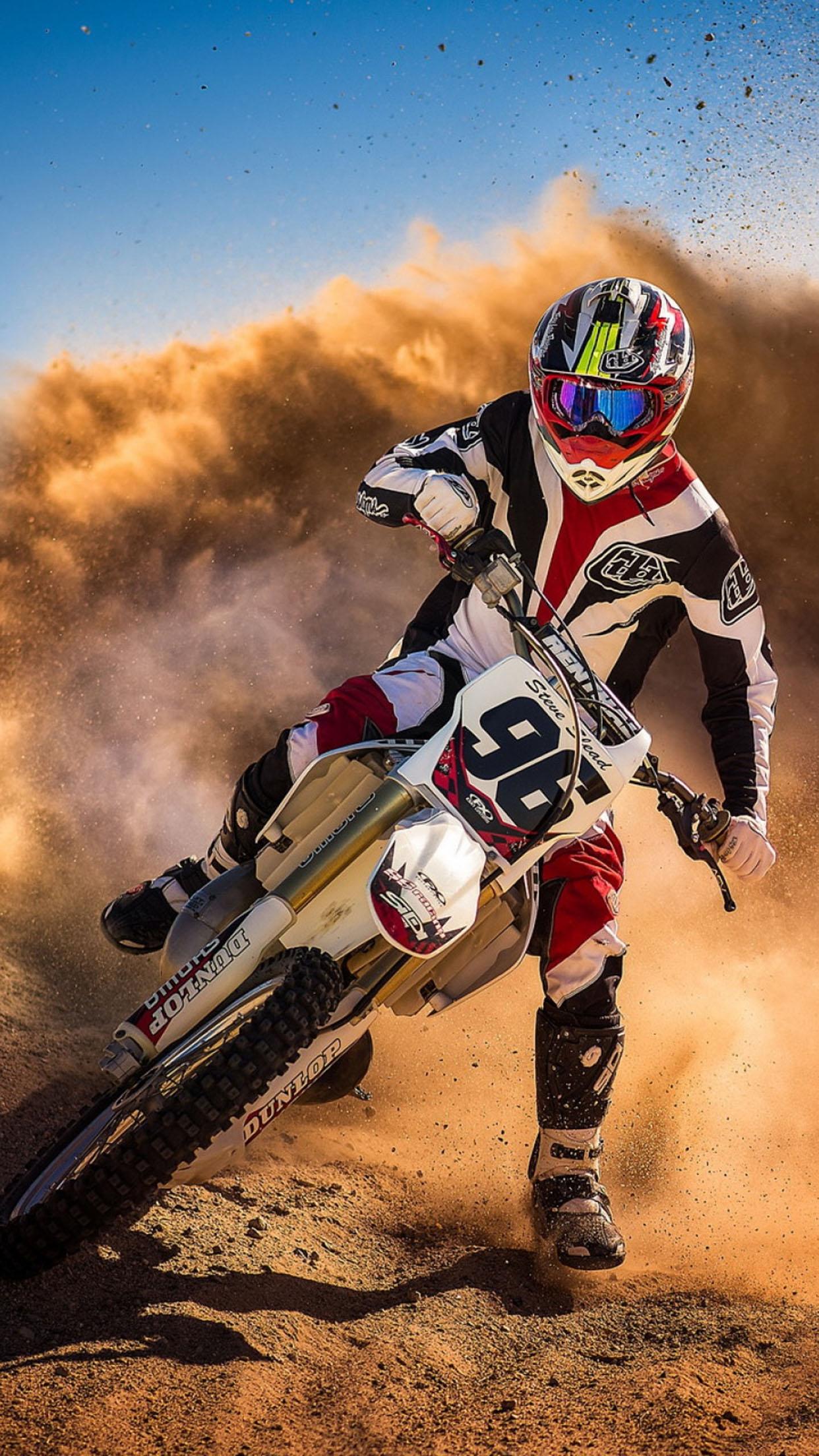 fond ecran moto cross