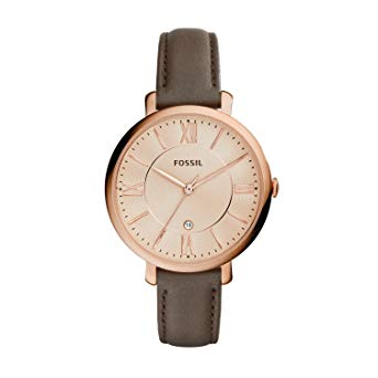 fossil montre femme cuir