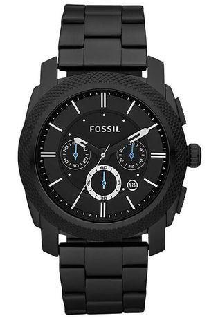 fossil montre homme noir