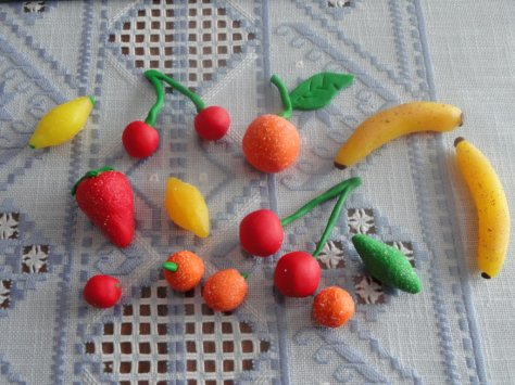 fruit en pate fimo