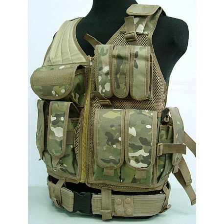 gilet tactique multicam airsoft