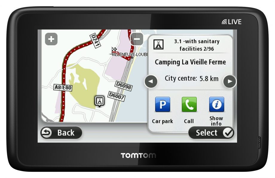 gps tomtom camping car