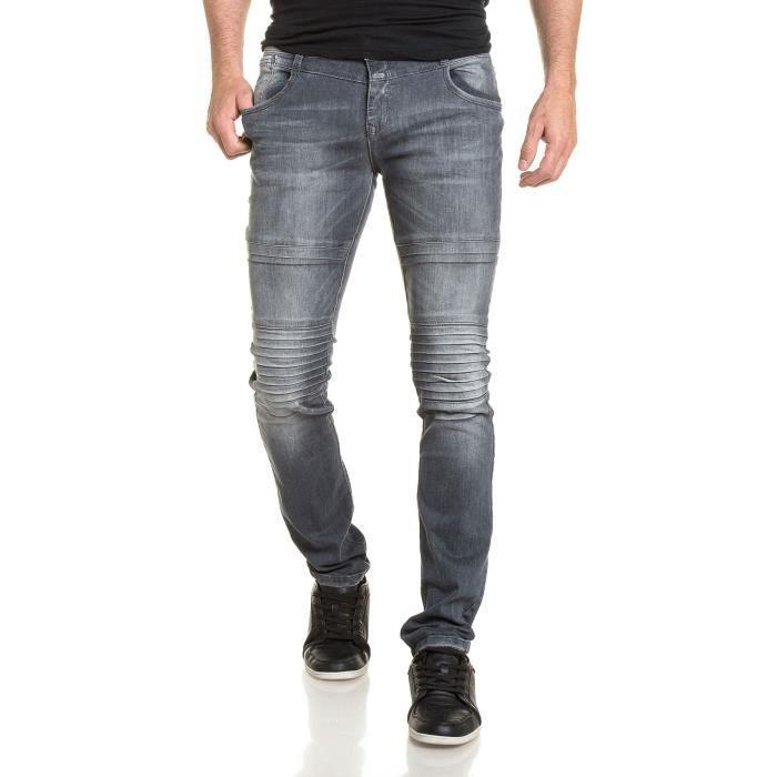 jean gris homme