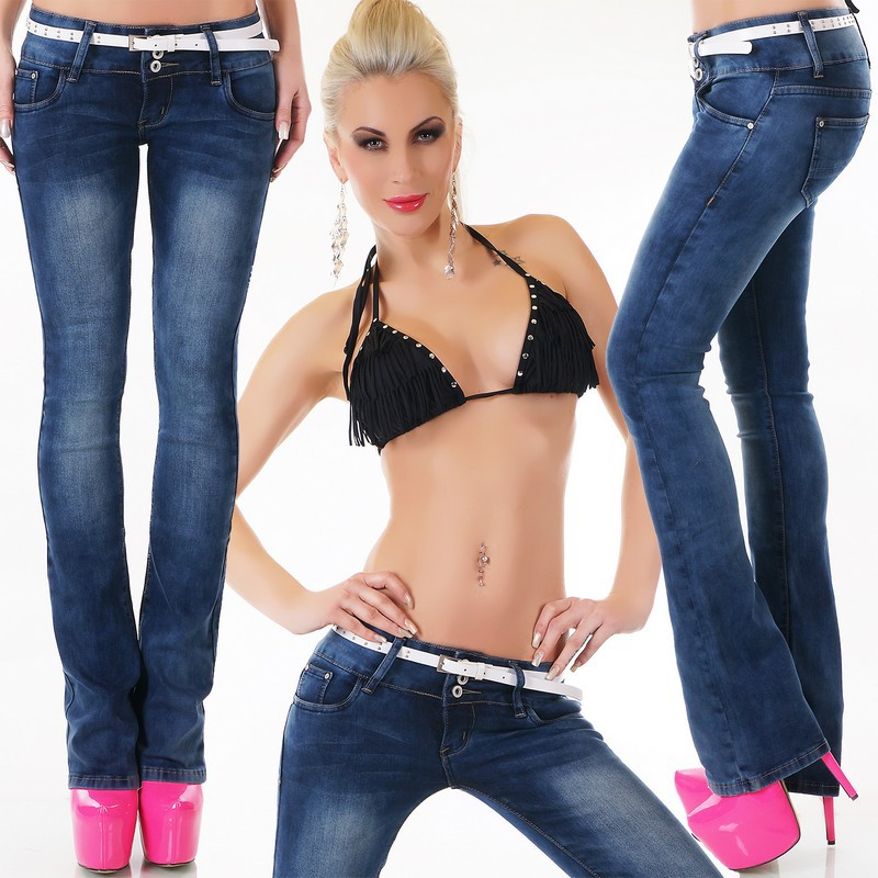 jeans taille basse femme fashion
