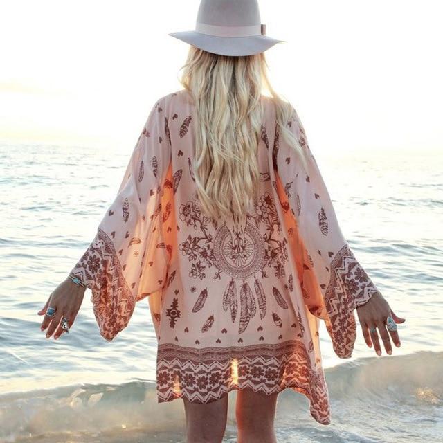 kimono femme plage