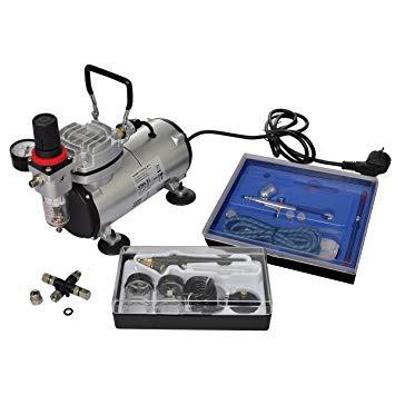 kit compresseur airbrush professionnel 2 pistolets