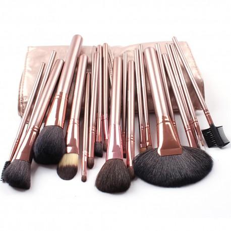 kit pinceau maquillage professionnel poil naturel