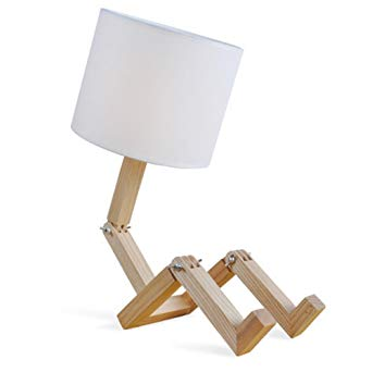 lampe de chevet bois