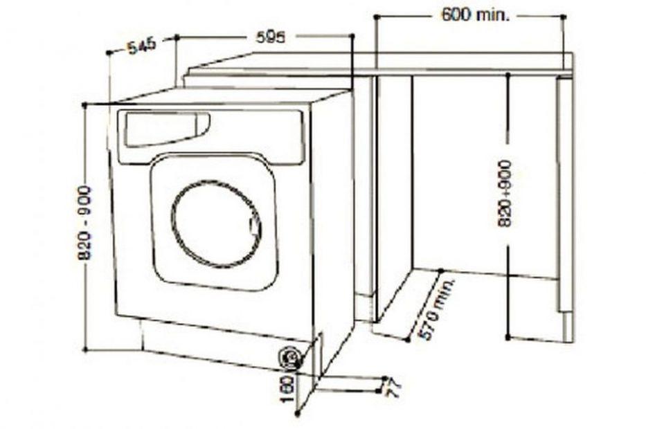 lave linge taille