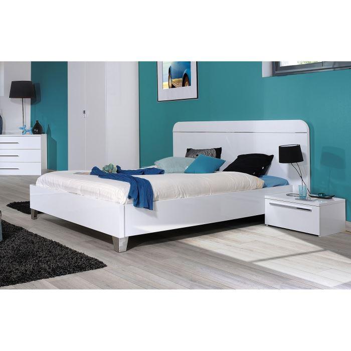 lit adulte blanc pas cher