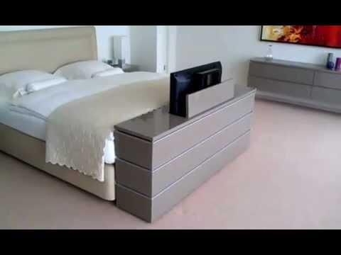 lit avec tv escamotable