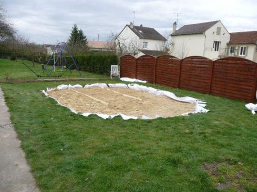 lit de sable piscine hors sol