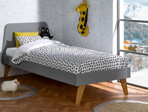lit gris enfant