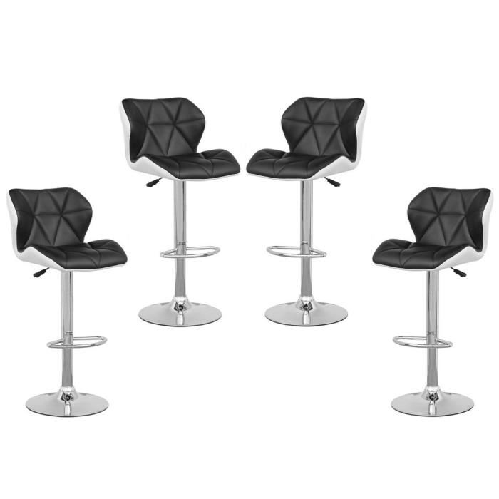 lot de 4 tabouret de bar pas cher