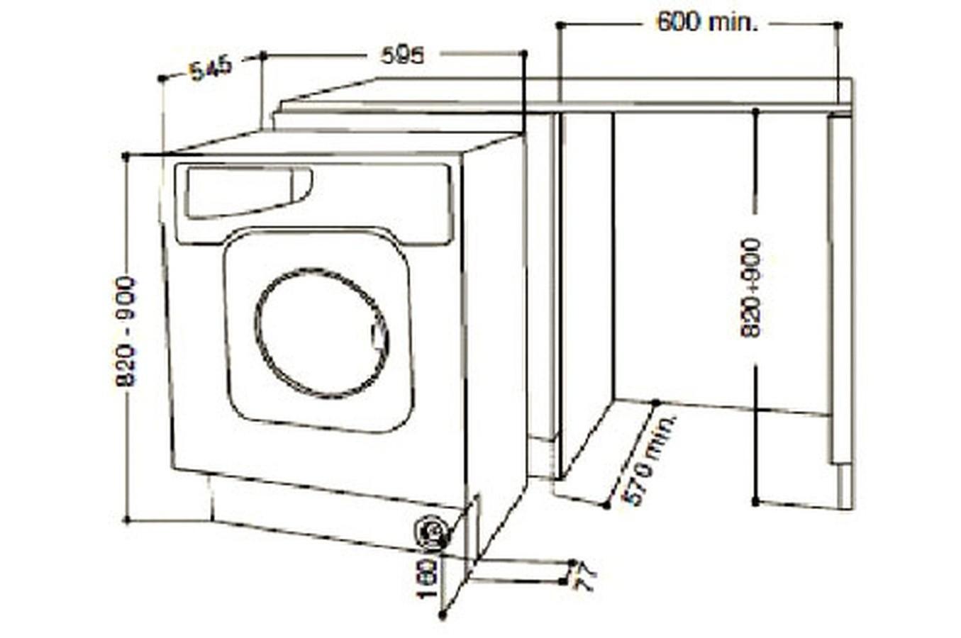 machine a laver dimension