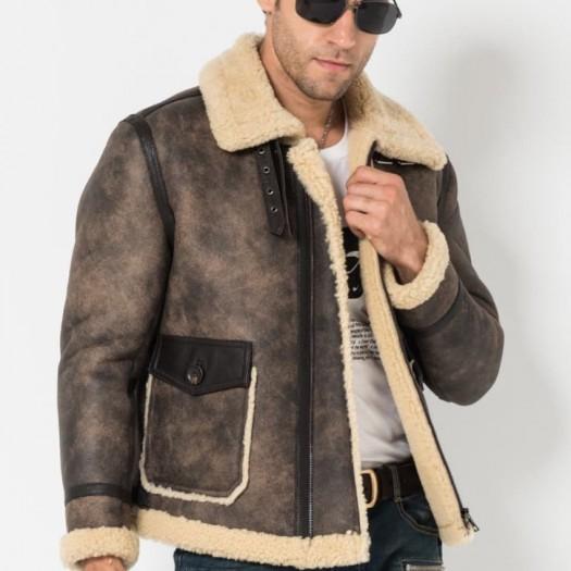 manteau homme aviateur