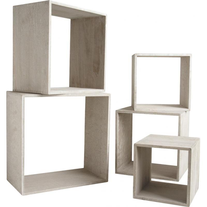 meuble cube bois