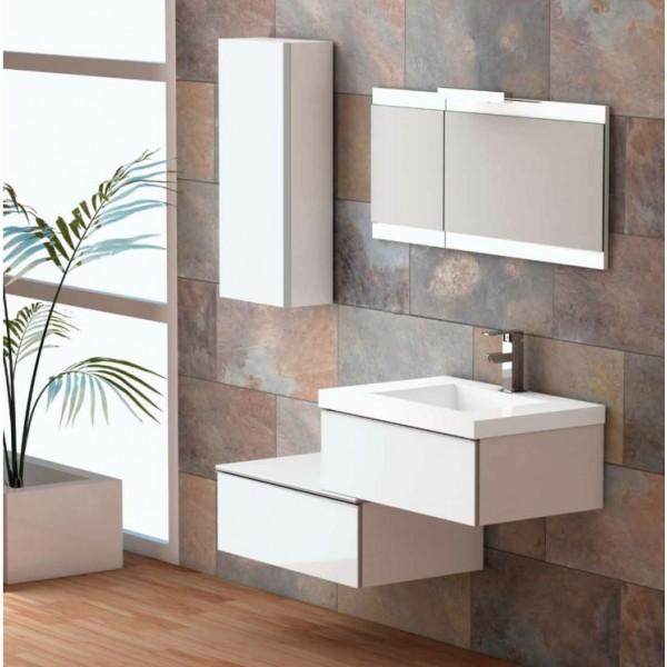 meuble de salle de bain suspendu pas cher