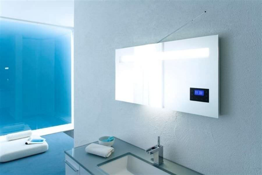 miroir salle de bain lumineux avec radio
