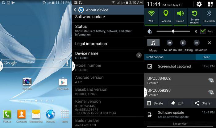 mise à jour android samsung s3