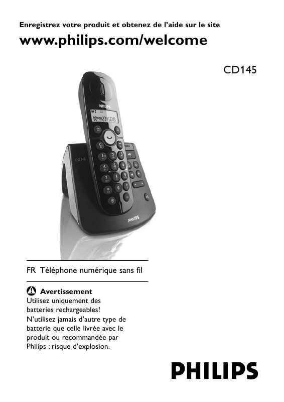 mode d emploi telephone philips