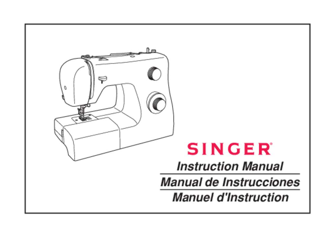 mode emploi machine a coudre singer