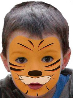 modele maquillage tigre