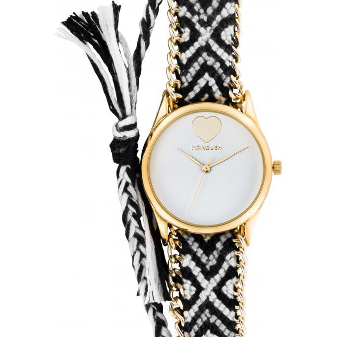 montre avec bracelet tissu femme